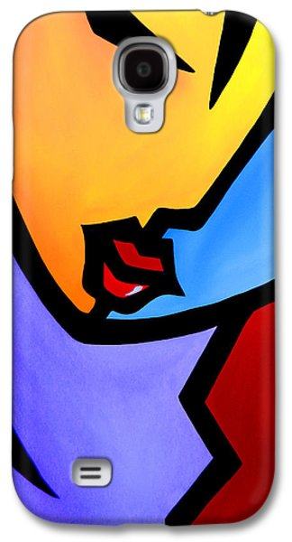 Contemporary Abstract Drawings Galaxy S4 Cases - Eye On You by Fidostudio Galaxy S4 Case by Tom Fedro - Fidostudio