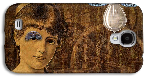 Mechanism Mixed Media Galaxy S4 Cases - Eye Test Steampunk Galaxy S4 Case by Bellesouth Studio