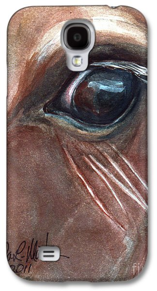 Saving Paintings Galaxy S4 Cases - Eyebrow Cat Galaxy S4 Case by Linda L Martin