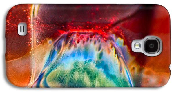 Red Abstract Glass Art Galaxy S4 Cases - Eyeland Galaxy S4 Case by Omaste Witkowski