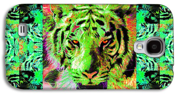 The Tiger Hunt Galaxy S4 Cases - Eyes of The Bengal Tiger Abstract Window 20130205m180 Galaxy S4 Case by Wingsdomain Art and Photography
