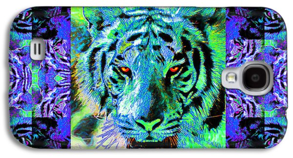 The Tiger Galaxy S4 Cases - Eyes of The Bengal Tiger Abstract Window 20130205m80 Galaxy S4 Case by Wingsdomain Art and Photography
