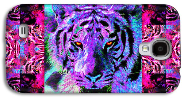 The Tiger Hunt Galaxy S4 Cases - Eyes of The Bengal Tiger Abstract Window 20130205p0 Galaxy S4 Case by Wingsdomain Art and Photography