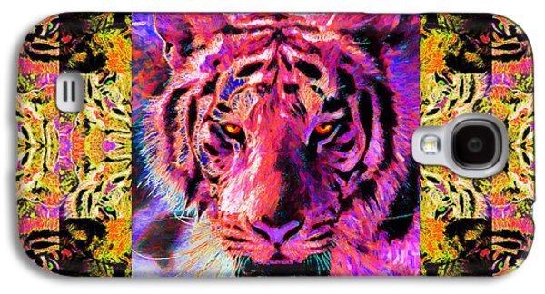 The Tiger Hunt Galaxy S4 Cases - Eyes of The Bengal Tiger Abstract Window 20130205p80 Galaxy S4 Case by Wingsdomain Art and Photography