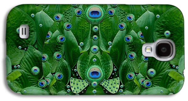 Contemplative Mixed Media Galaxy S4 Cases - Eyes Of the Hidden Peacock Galaxy S4 Case by Pepita Selles