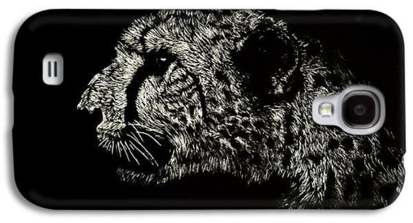 Cheetah Drawings Galaxy S4 Cases - Eyes on the Prize Galaxy S4 Case by Nathan Cole