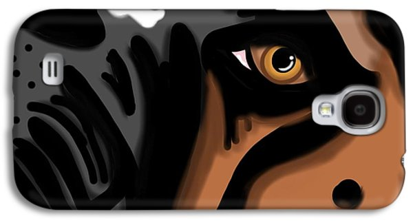 Boxer Puppy Digital Art Galaxy S4 Cases - Eyes to The Soul Galaxy S4 Case by Christina Kulzer