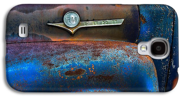 Truck Photographs Galaxy S4 Cases - F-100 Ford Galaxy S4 Case by Debra and Dave Vanderlaan