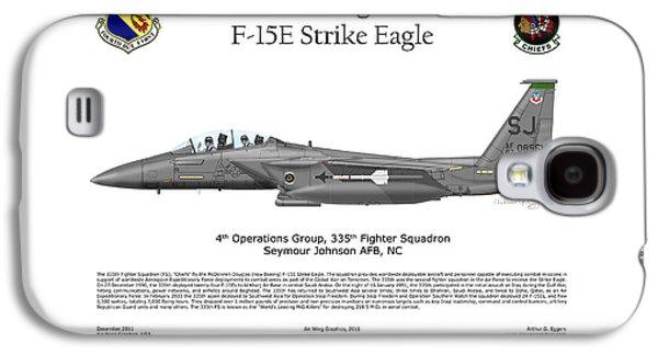 Iraq Prints Galaxy S4 Cases - F-15E Strike Eagle 335th FS Galaxy S4 Case by Arthur Eggers