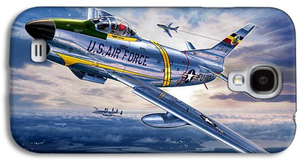 F-86d Sabre Dog Galaxy S4 Case by Stu Shepherd