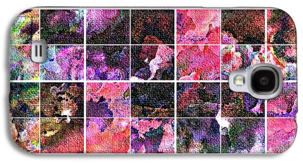 Digital Tapestries - Textiles Galaxy S4 Cases - Tiled Watercolor Blocks with Texture 5 Galaxy S4 Case by Barbara Griffin