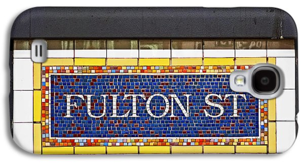 F Is For Fulton Street Galaxy S4 Case by Rona Black