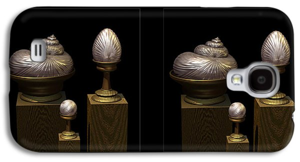Marble Eye Galaxy S4 Cases - Faberge Style White Gold 3D Galaxy S4 Case by Hakon Soreide