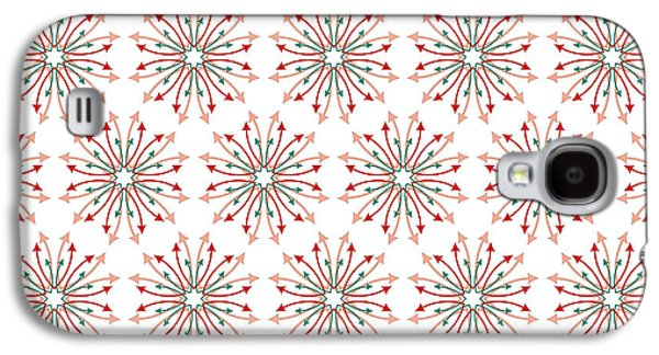 Concept Tapestries - Textiles Galaxy S4 Cases - Fabric Arrows Flowers Galaxy S4 Case by Jozef Jankola