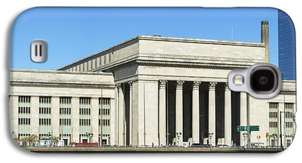 Schuylkill Galaxy S4 Cases - Facade Of A Building At A Railroad Galaxy S4 Case by Panoramic Images
