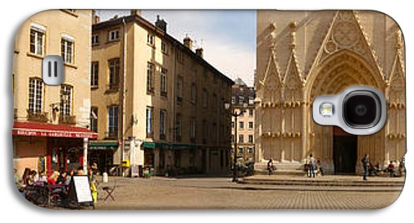 Rhone Alpes Galaxy S4 Cases - Facade Of A Cathedral, St. Jean Galaxy S4 Case by Panoramic Images