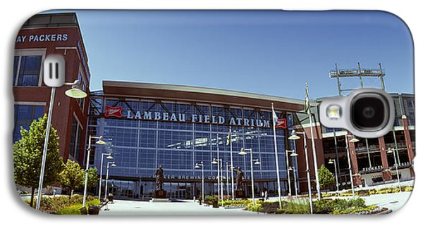 Sports Photographs Galaxy S4 Cases - Facade Of A Stadium, Lambeau Field Galaxy S4 Case by Panoramic Images