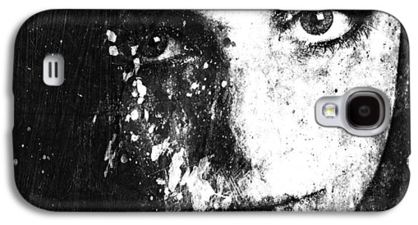 Photo Manipulation Mixed Media Galaxy S4 Cases - Face In A Dream grayscale Galaxy S4 Case by Marian Voicu
