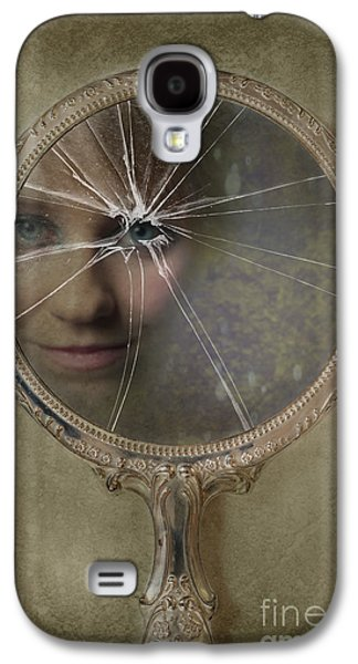 Glass Reflecting Galaxy S4 Cases - Face In Broken Mirror Galaxy S4 Case by Amanda And Christopher Elwell