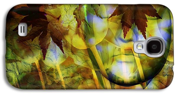 Abstract Digital Art Galaxy S4 Cases - Face In the Rock Dreams of Tulips Galaxy S4 Case by Elizabeth McTaggart