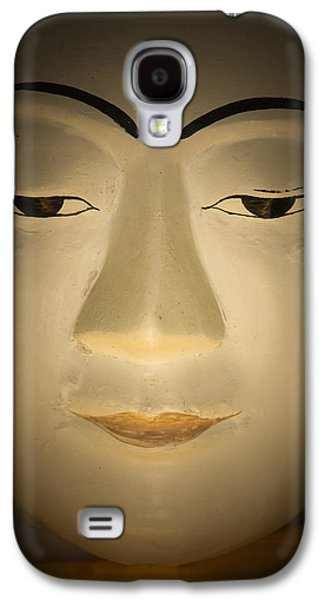 Statue Portrait Galaxy S4 Cases - Face of Buddha Galaxy S4 Case by Maria Heyens