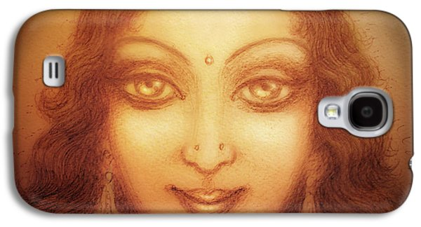 Goddess Durga Galaxy S4 Cases - Face of the Goddess/ Durga Face Galaxy S4 Case by Ananda Vdovic