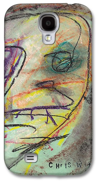 Person Pastels Galaxy S4 Cases - Face Study No. 2 Galaxy S4 Case by Christopher Winkler