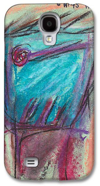 Person Pastels Galaxy S4 Cases - Face Study No. 4 Galaxy S4 Case by Christopher Winkler