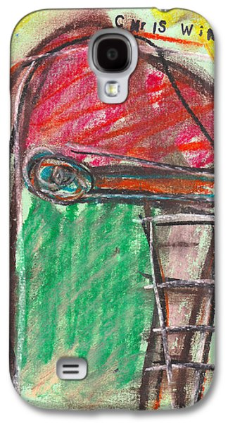 Person Pastels Galaxy S4 Cases - Face Study No. 5 Galaxy S4 Case by Christopher Winkler