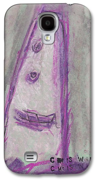 Person Pastels Galaxy S4 Cases - Face Study No. 7 Galaxy S4 Case by Christopher Winkler