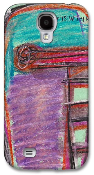 Person Pastels Galaxy S4 Cases - Face Study No. 8 Galaxy S4 Case by Christopher Winkler