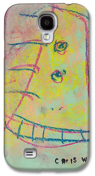 Person Pastels Galaxy S4 Cases - Face Study No. 9 Galaxy S4 Case by Christopher Winkler