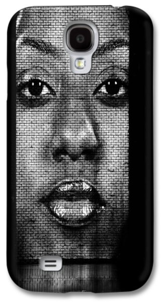 Glass Wall Galaxy S4 Cases - Face to Face - Crown Fountain Chicago Galaxy S4 Case by Christine Till