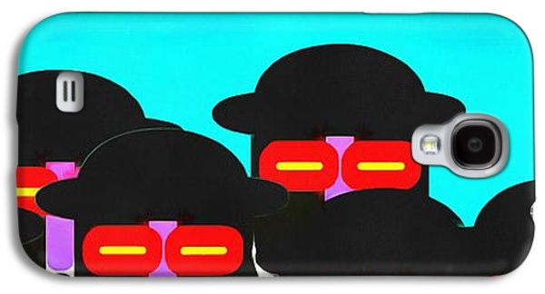 Abstract Digital Galaxy S4 Cases - Faces in a Crowd Galaxy S4 Case by Edward Fielding