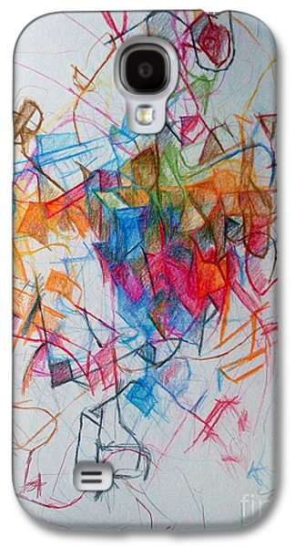 Inner Self Galaxy S4 Cases - Facing Each Other 1 Galaxy S4 Case by David Baruch Wolk