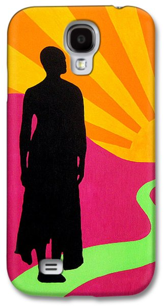Alluring Paintings Galaxy S4 Cases - Facing East - A New Dawn Galaxy S4 Case by Oliver Johnston