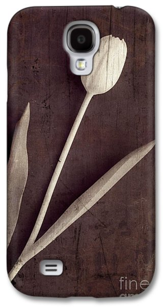 Day Galaxy S4 Cases - Faded Memories Single White Tulip Galaxy S4 Case by Edward Fielding