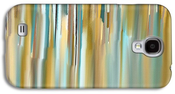 Abstract Seascape Paintings Galaxy S4 Cases - Faded Rhythm Galaxy S4 Case by Lourry Legarde