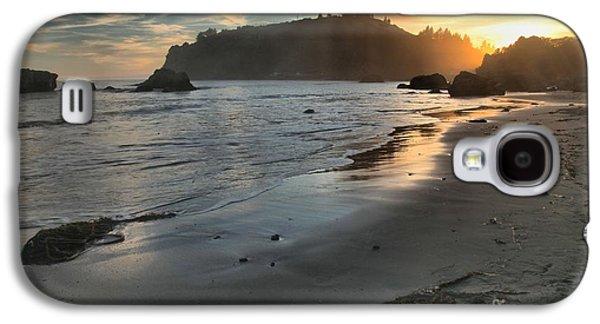 Foggy Beach Galaxy S4 Cases - Fading Sun Galaxy S4 Case by Adam Jewell