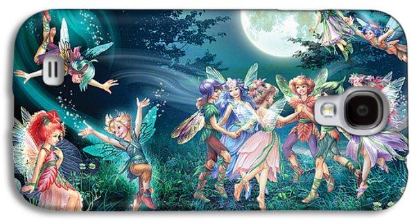 Elf Photographs Galaxy S4 Cases - Fairies And Elves Dancing Galaxy S4 Case by Zorina Baldescu