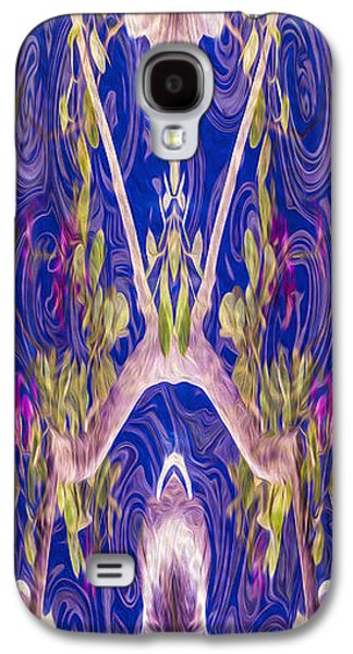 Abstract Digital Mixed Media Galaxy S4 Cases - Fairies and Fantasies Galaxy S4 Case by Omaste Witkowski