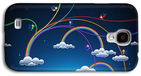 Abstract Digital Digital Galaxy S4 Cases - Fairies Made Rainbow Galaxy S4 Case by Gianfranco Weiss
