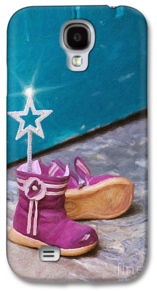 Adorable Digital Art Galaxy S4 Cases - Fairy at the Door  Galaxy S4 Case by Tim Gainey