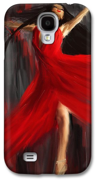Ballet Dancers Paintings Galaxy S4 Cases - Fairy On Earth Galaxy S4 Case by Lourry Legarde