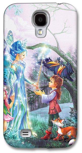 Courage Galaxy S4 Cases - Fairy Wand Galaxy S4 Case by Zorina Baldescu