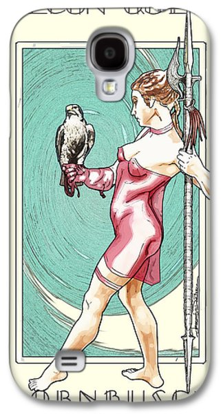 Statue Portrait Drawings Galaxy S4 Cases - Falcon Queen Galaxy S4 Case by Jerrett Dornbusch