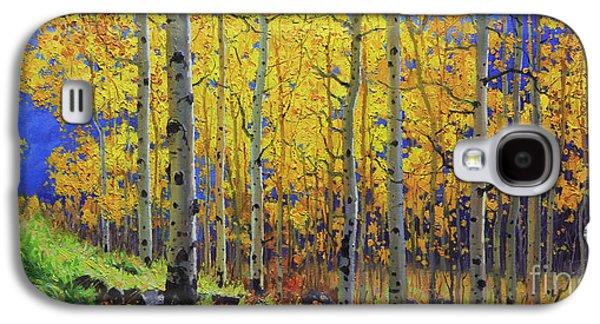 Autumn Foliage Galaxy S4 Cases - Fall Aspen Hill  Galaxy S4 Case by Gary Kim