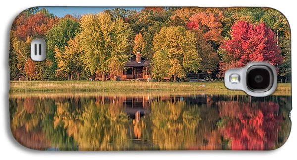 Dreamscape Galaxy S4 Cases - Fall Colors in Cabin Country Galaxy S4 Case by Paul Freidlund