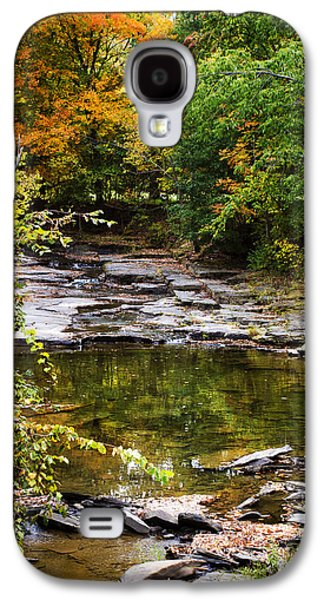 Landscapes Photographs Galaxy S4 Cases - Fall Creek Galaxy S4 Case by Christina Rollo