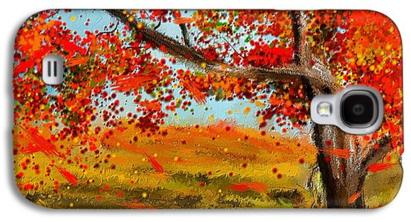 Autumn Scene Galaxy S4 Cases - Fall Impressions Galaxy S4 Case by Lourry Legarde